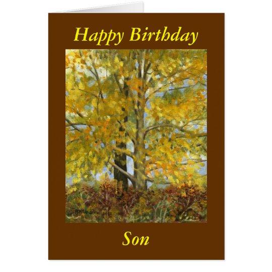 """Happy Birthday Son"" Card"