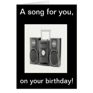 Happy Birthday song Card