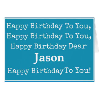 Happy Birthday Song Greeting Card