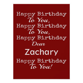 Happy Birthday Song Red Personalized Poster