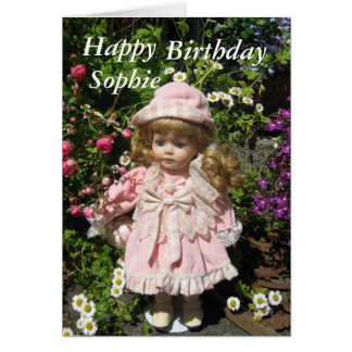 Happy Birthday Sophie Card