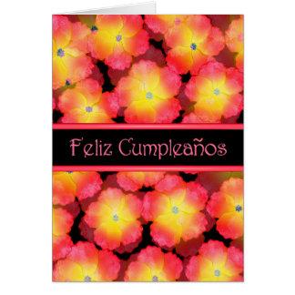 Happy Birthday Spanish w/ blank inside Note Card