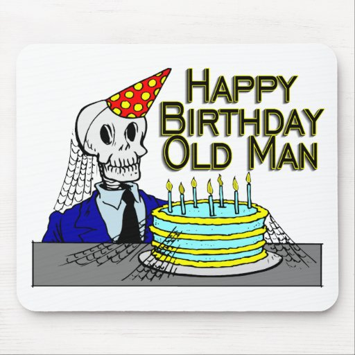 Happy Birthday Spider Web Old Man Mousepad