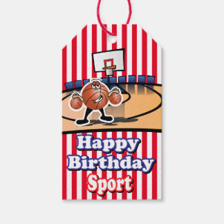 Happy Birthday Sport | Basketball Pack Of Gift Tags