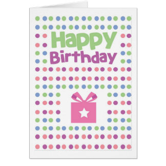 Happy Birthday spotty card