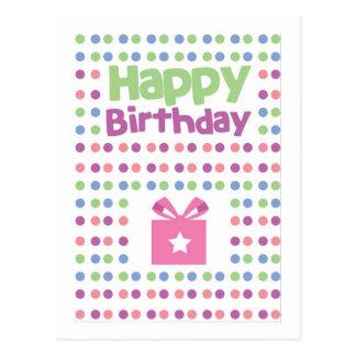 Happy Birthday spotty card Postcard