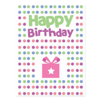 Happy Birthday spotty card Postcards