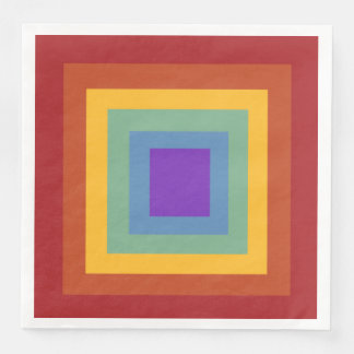Happy Birthday Square Rainbow Napkins Paper Napkins