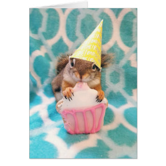 Happy Birthday, squirrel friend. Card