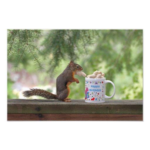 Happy Birthday Squirrel Photo