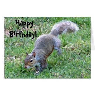 Happy, Birthday! Squirrelly Card