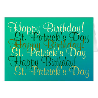 Happy Birthday/St. Patrick's Day Blessings Card