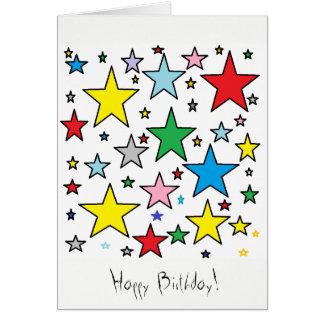 Happy Birthday Stars Card