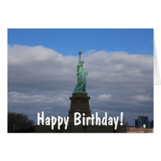 Happy Birthday Statue of Liberty NYC Card