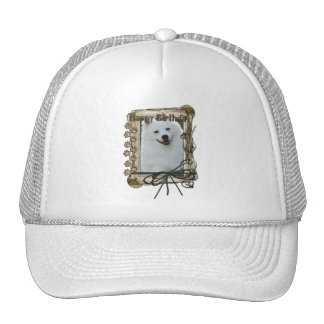 Happy Birthday - Stone Paws - American Eskimo Trucker Hat