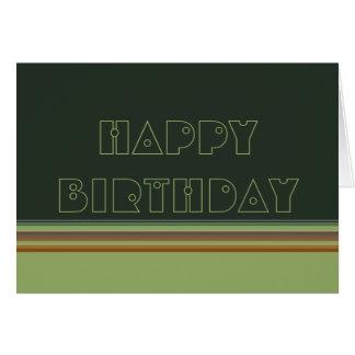 Happy Birthday Stripes Card