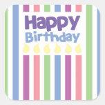Happy Birthday stripey card Sticker