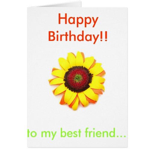 Happy Birthday Sunflower Cards