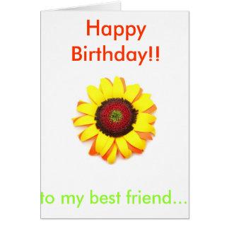 Happy Birthday Sunflower Greeting Card