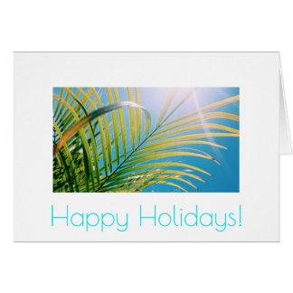 Happy Birthday Sunny Palm Tree Greeting Card