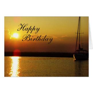 Happy Birthday Sunset Card