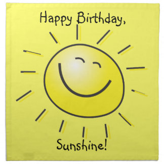 Happy Birthday Sunshine Printed Napkins