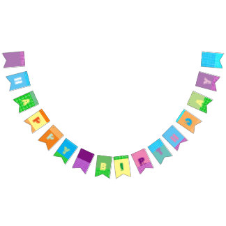 Happy Birthday Swallowtail Party Bunting Banner