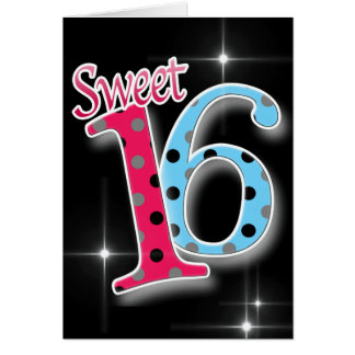 Happy Birthday Sweet Sixteen 16th Card