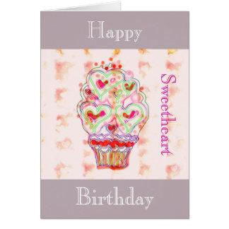 Happy birthday sweetheart - greeting card