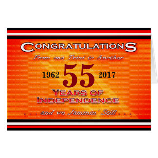 Happy Birthday T&T Independence Card
