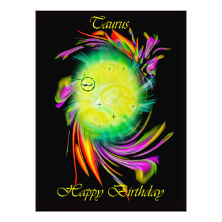 Happy Birthday Taurus - bull Art Photo