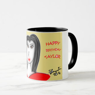 HAPPY BIRTHDAY TAYLOR MUG