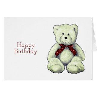 Happy Birthday, Teddy Bear, Pencil Drawing Card