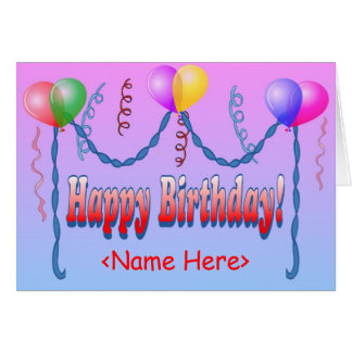 Happy Birthday Template Card