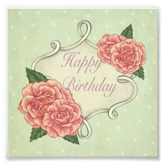 Happy birthday,template,vintage,shabby chic,roses photograph