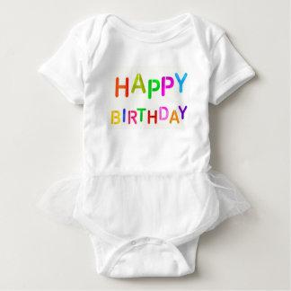 happy-birthday-text baby bodysuit