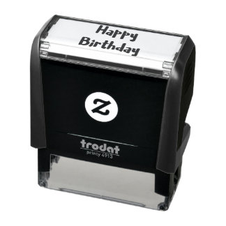 Happy Birthday Text Heart Icon for Craft Self-inking Stamp
