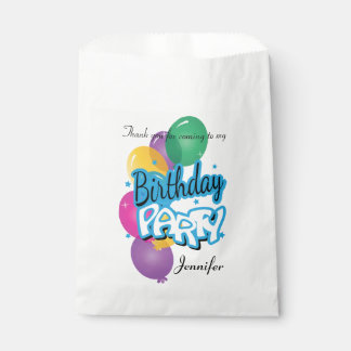 Happy Birthday Thank You | Baby Blue Favour Bag