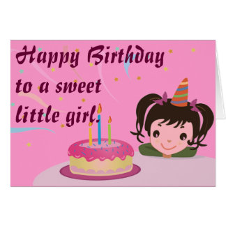 Happy Birthday to a sweet little girl. Greeting Card