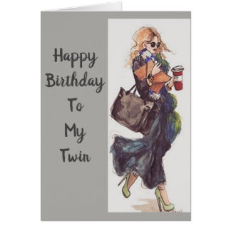 HAPPY BIRTHDAY TO ***A VERY SPECIAL TWIN*** CARD
