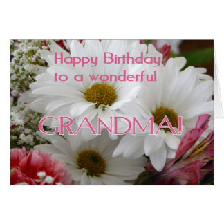 Happy Birthday to a wonderful Grandma!-Daisies Card