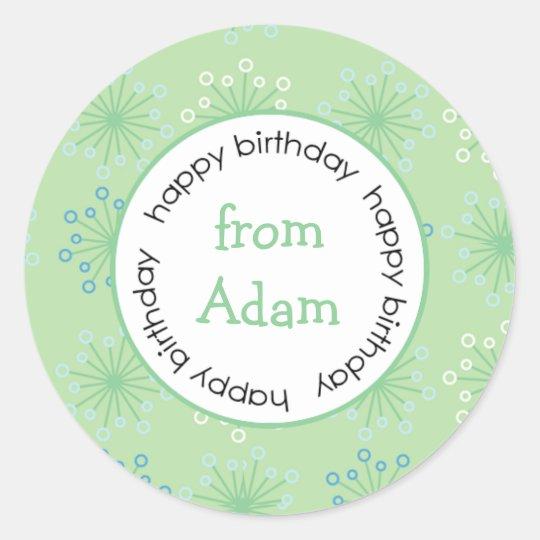 Happy Birthday to/from sticker  (#LABL027)