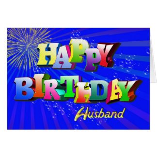 Happy Birthday to husband Greeting Card