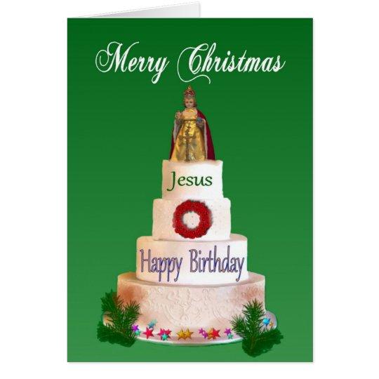 Happy Birthday to Jesus Christmas Card