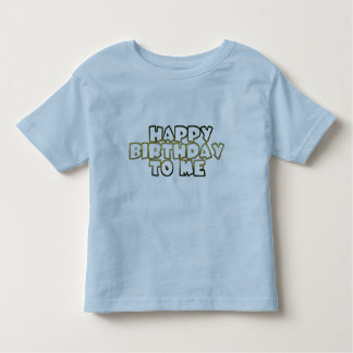 Happy Birthday To Me, blue gold typography shirt