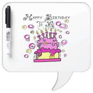 Happy Birthday To Me Dry Erase Whiteboard