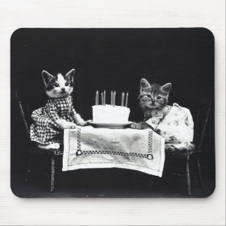 Happy Birthday to Meow | Kitties with Cake Mouse Pad