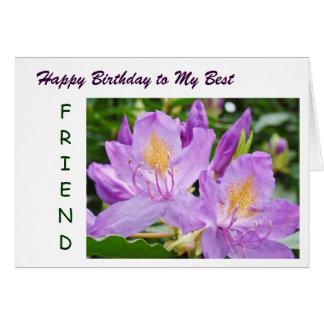 Happy Birthday to My Best Friend card Rhodies