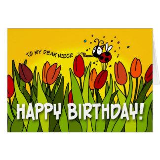 Happy Birthday - To My Dear Niece Greeting Card