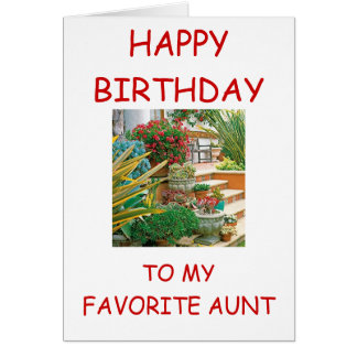 """""""HAPPY BIRTHDAY TO MY FAVORITE AUNT"""" CARD"""
